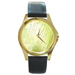 Graphic Cloth 001a Round Gold Metal Watch