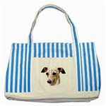 Italian Greyhound ^ Striped Blue Tote Bag