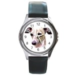 Italian Greyhound ^ Round Metal Watch