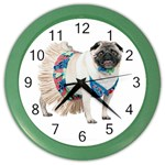 Pug In A Dress ^ Color Wall Clock