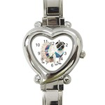Pug In A Dress ^ Heart Italian Charm Watch