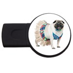 Pug In A Dress ^ USB Flash Drive Round (2 GB)
