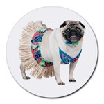 Pug In A Dress ^ Round Mousepad
