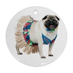 Pug In A Dress ^ Ornament (Round)