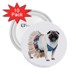 Pug In A Dress ^ 2.25  Button (10 pack)