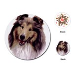 Collie ^ Playing Cards (Round)