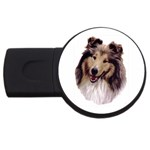 Collie ^ USB Flash Drive Round (4 GB)