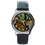 Baby Turtles Round Metal Watch