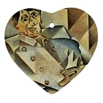 Juan_Gris_-_Portrait_of_Picasso Ornament (Heart)