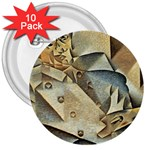 Juan_Gris_-_Portrait_of_Picasso 3  Button (10 pack)