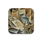 Juan_Gris_-_Portrait_of_Picasso Rubber Square Coaster (4 pack)