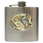 Juan_Gris_-_Portrait_of_Picasso Hip Flask (6 oz)