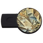 Juan_Gris_-_Portrait_of_Picasso USB Flash Drive Round (2 GB)