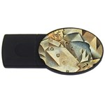 Juan_Gris_-_Portrait_of_Picasso USB Flash Drive Oval (1 GB)