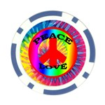 tye_dye_peace_love Poker Chip Card Guard