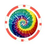 tyedyebright tyedye2 Poker Chip Card Guard