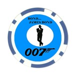 BOND-BLUE-1 Poker Chip Card Guard