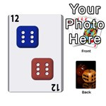 Deck of Dice B - Playing Cards 54 Designs