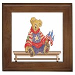 patrotic bear Framed Tile