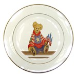 patrotic bear Porcelain Plate