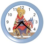 patrotic bear Color Wall Clock
