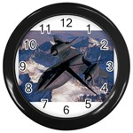 awallpaperavia016 Wall Clock (Black)