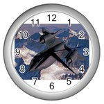 awallpaperavia016 Wall Clock (Silver)