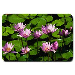 Water lilies Large Doormat by cowcowstore