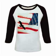 Us Flag & Eagle Kids Baseball Jersey by My24hourshop
