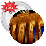 Brandenburg Gate, Germany 3  Button (10 pack)
