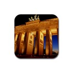 Brandenburg Gate, Germany Rubber Square Coaster (4 pack)