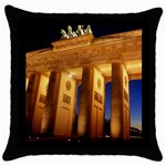 Brandenburg Gate, Germany Throw Pillow Case (Black)