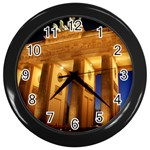 Brandenburg Gate, Germany Wall Clock (Black)