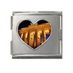 Brandenburg Gate, Germany Mega Link Heart Italian Charm (18mm)