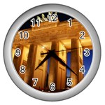 Brandenburg Gate, Germany Wall Clock (Silver)