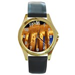 Brandenburg Gate, Germany Round Gold Metal Watch