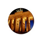 Brandenburg Gate, Germany Rubber Round Coaster (4 pack)