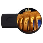 Brandenburg Gate, Germany USB Flash Drive Round (1 GB)