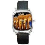 Brandenburg Gate, Germany Square Metal Watch