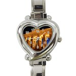 Brandenburg Gate, Germany Heart Italian Charm Watch