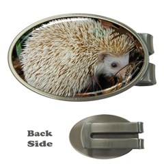 Hedgehog in Leaves Money Clip (Oval) from ArtsNow.com Front
