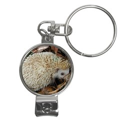 Hedgehog in Leaves Nail Clippers Key Chain from ArtsNow.com Front