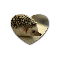 Standard Hedgehog II Rubber Coaster (Heart) from ArtsNow.com Front