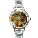 Pablo Picasso - Friendship Round Italian Charm Watch