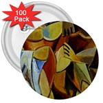 Pablo Picasso - Friendship 3  Button (100 pack)