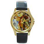 Pablo Picasso - Friendship Round Gold Metal Watch