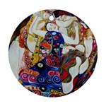the_virgin__gustav_klimt_copy. Ornament (Round)