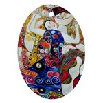 the_virgin__gustav_klimt_copy. Ornament (Oval)