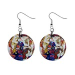 the_virgin__gustav_klimt 1  Button Earrings
