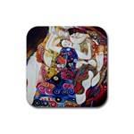 the_virgin__gustav_klimt_copy. Rubber Square Coaster (4 pack)